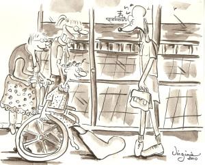 carte illustrée-Virgiie Ducoulombier-Morat-Fondation Yves Cotrel-au profit de la recherche sur les scolioses