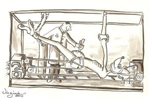 La promenade-carte illustrée-Virgiie Ducoulombier-Morat-Fondation Yves Cotrel-au profit de la recherche sur les scolioses