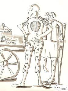L'amitié-carte illustrée-Virgiie Ducoulombier-Morat-Fondation Yves Cotrel-au profit de la recherche sur les scolioses