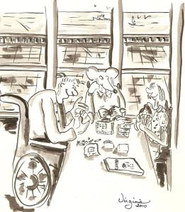 Les après-midi-cartes illustrées-Virginie Ducoulombier Morat-au profit de la recherche sur la scoliose-Fondation Yves Cotrel