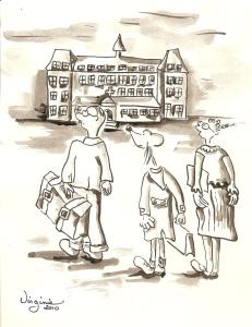 L'Institut Calot-carte illustrée-Virgiie Ducoulombier-Morat-Fondation Yves Cotrel-au profit de la recherche sur les scolioses